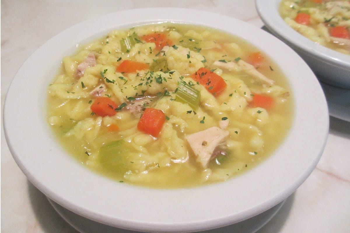 Wednesday: Chicken Dumpling Soup from Golden Basket Restaurant in Green Bay, WI