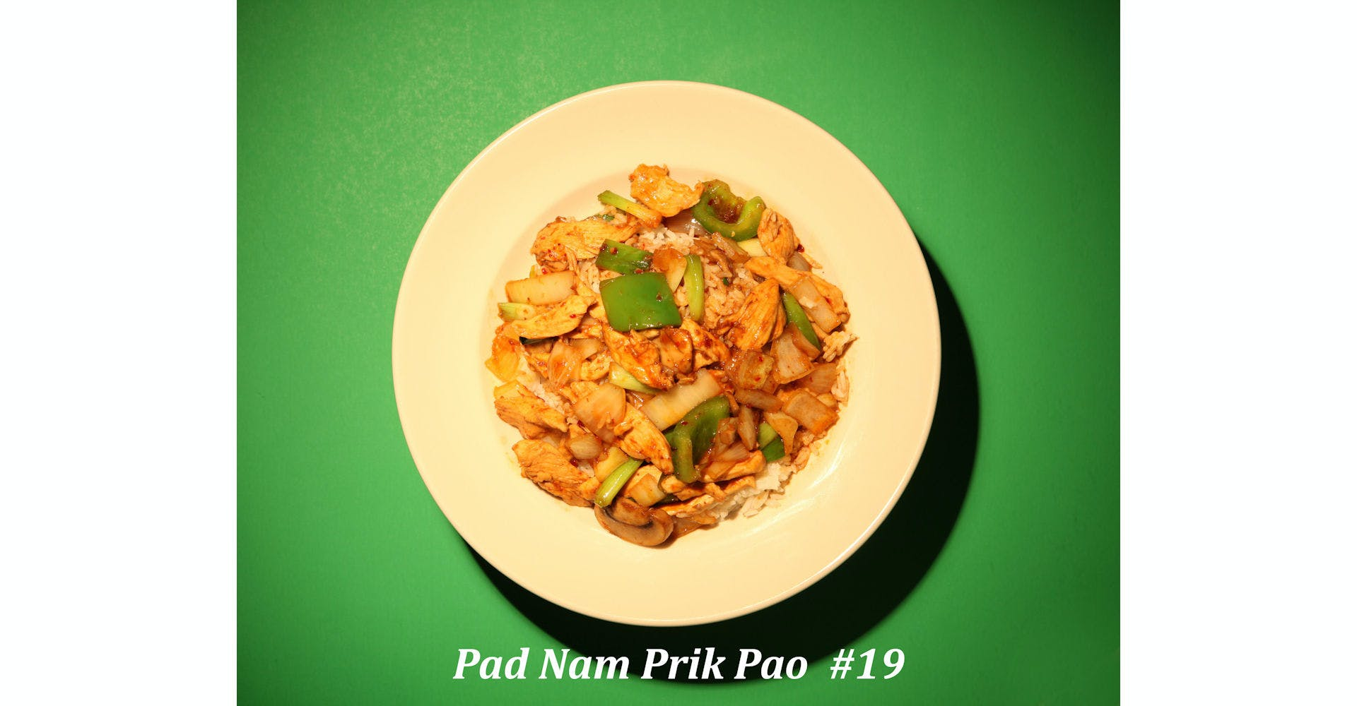 19. Pad Namprik Pao from Narin's Thai Kitchen in Green Bay, WI