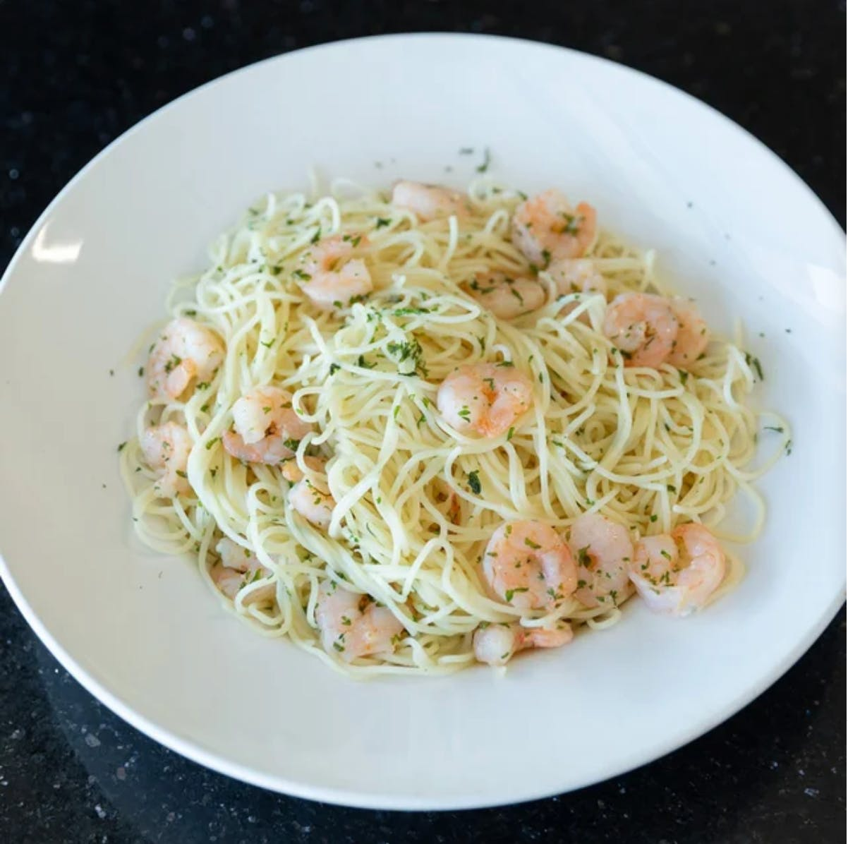 Shrimp Scampi Pasta from Aroma Pizza & Pasta in Lake Forest, CA