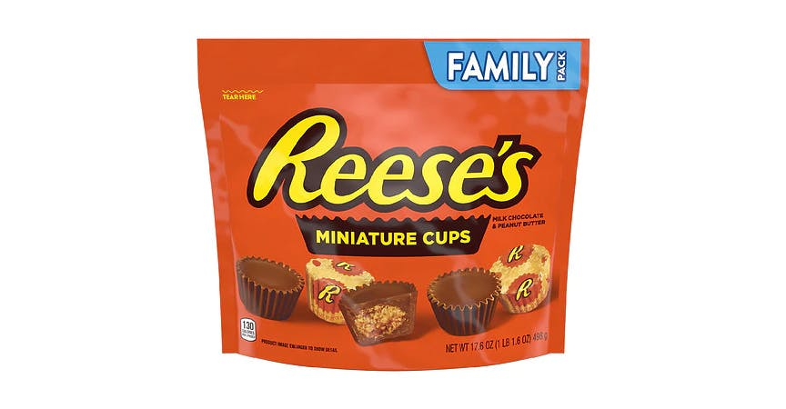 Reese's Peanut Butter Cups Miniatures Candy (17.6 oz) from EatStreet Convenience - W Mason St in Green Bay, WI