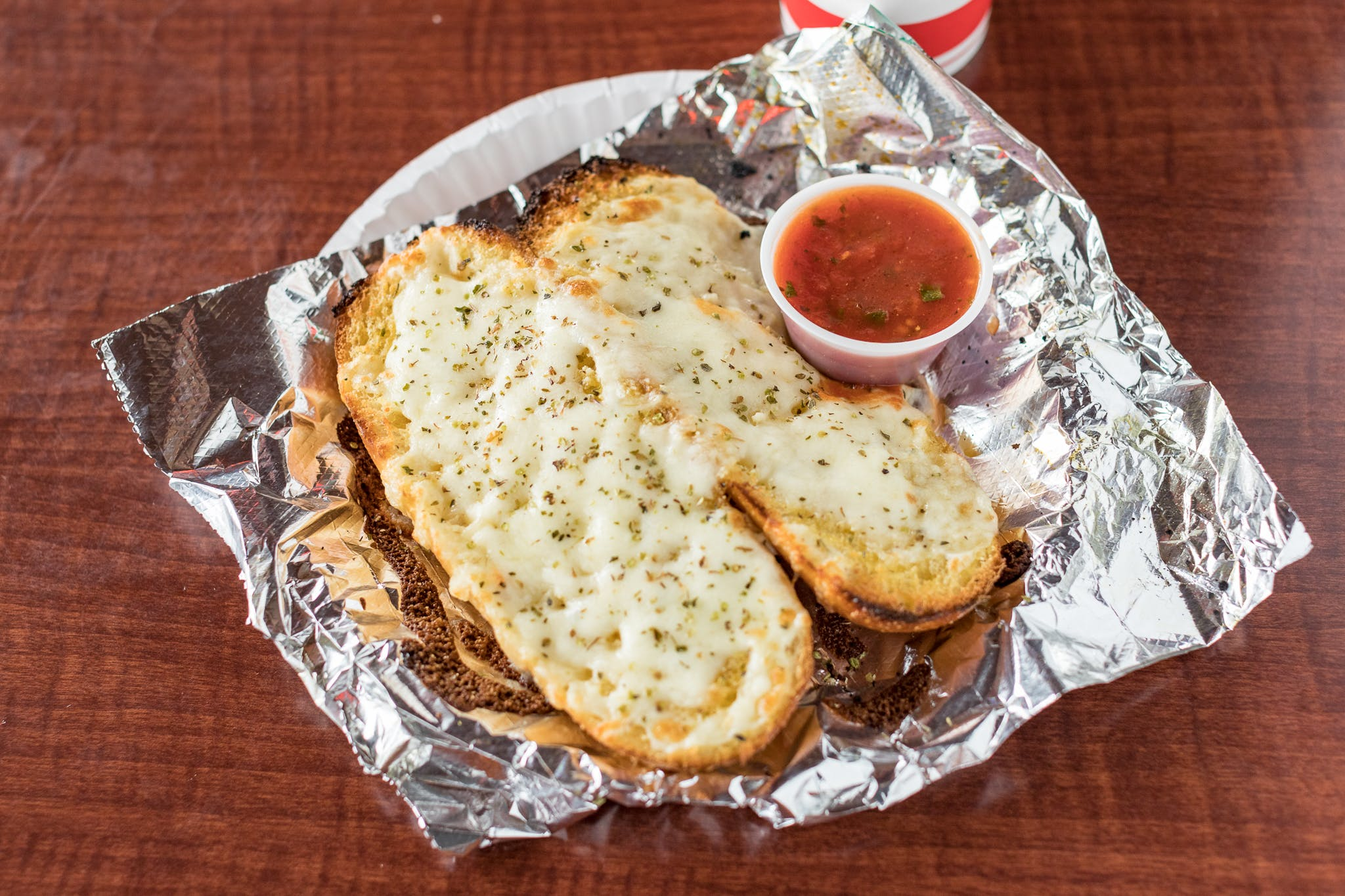 Cheesebread from Johnny's Pizza Shop in Eau Claire, WI