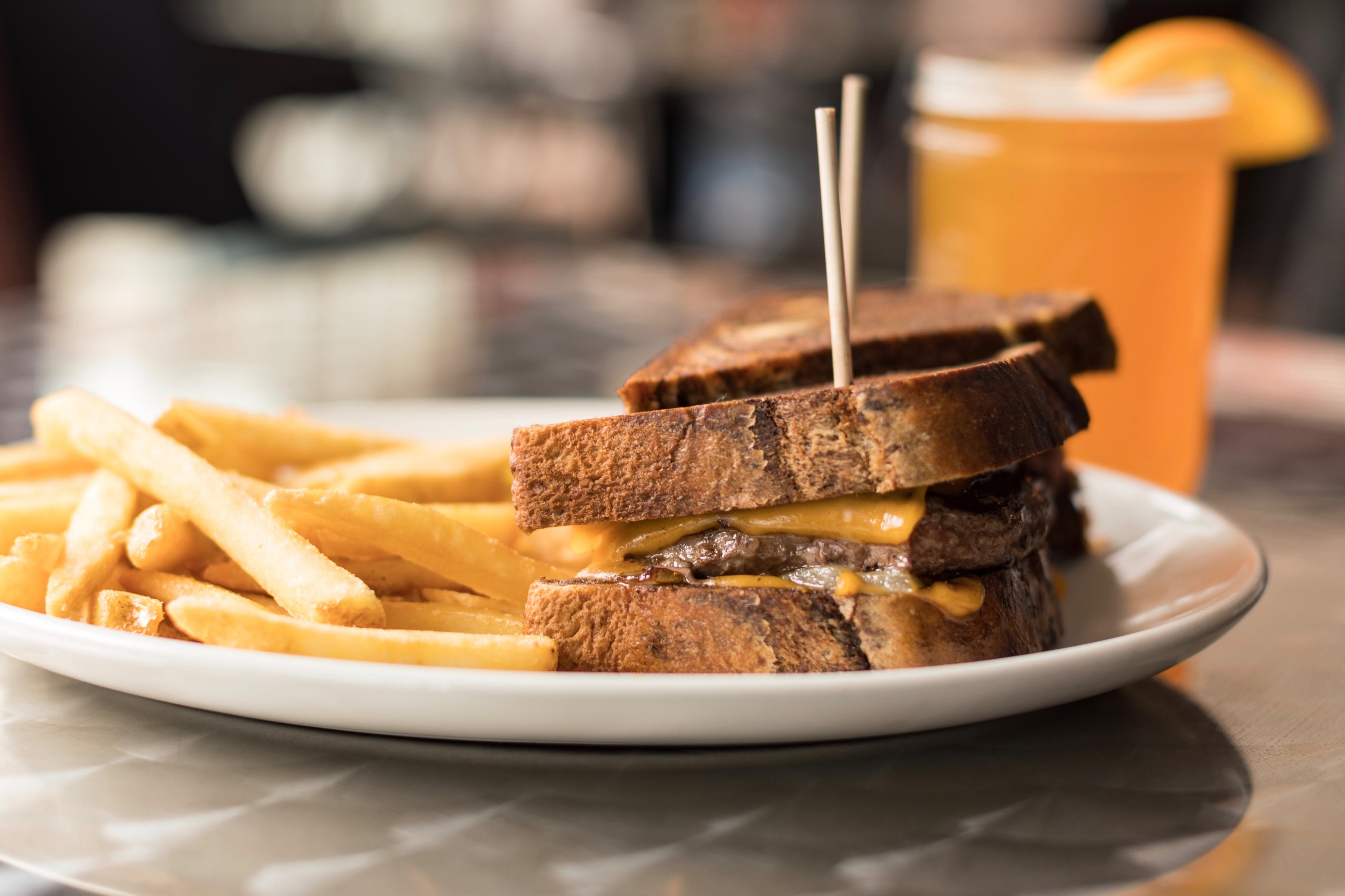 Patty Melt Burger from The District Pub and Grill in Eau Claire, WI