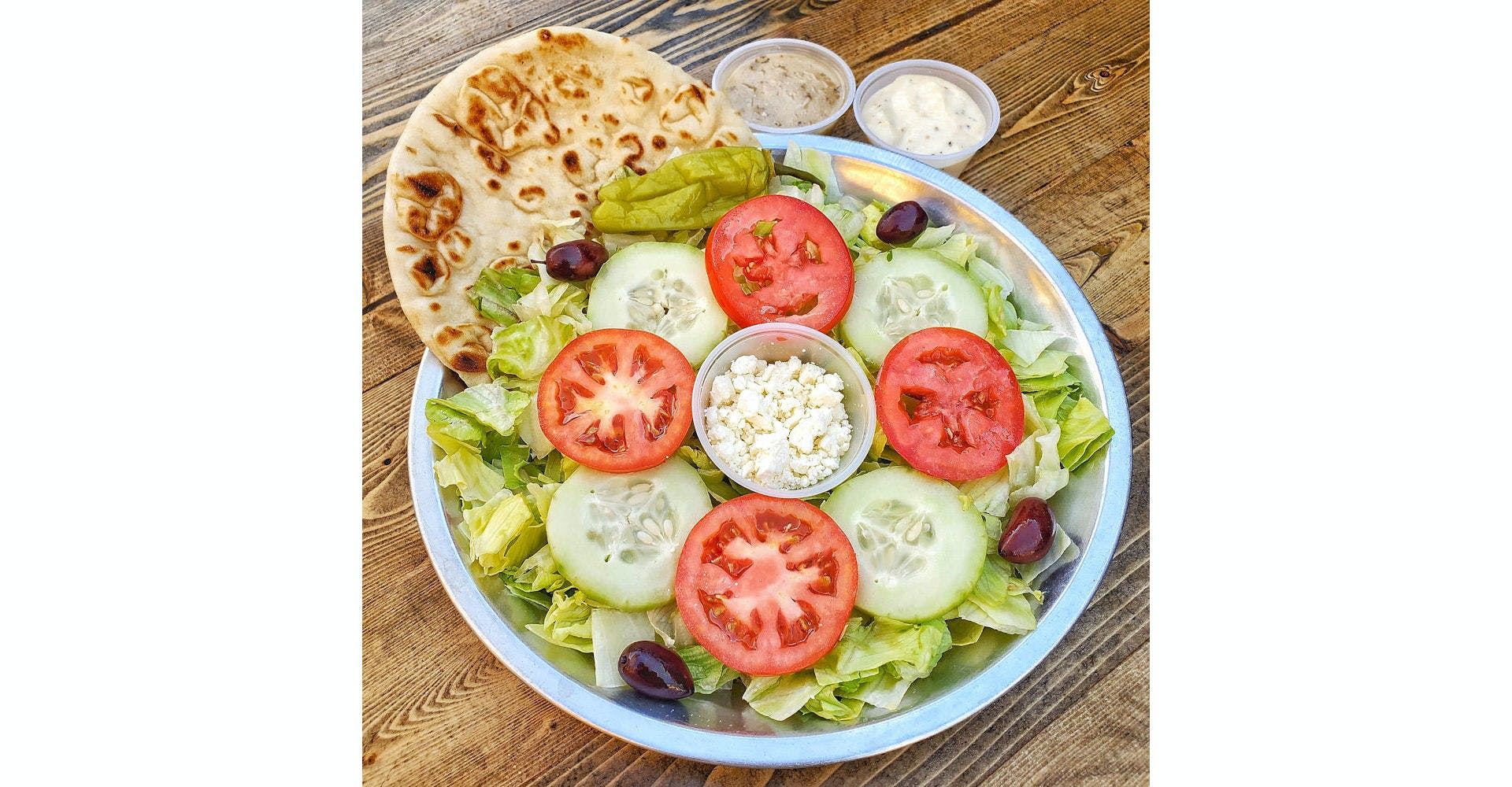 Greek Salad from Parthenon Gyros in Madison, WI