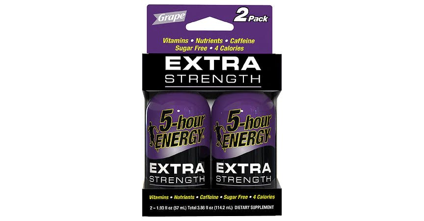 5-Hour ENERGY Shot Extra Strength Grape 1.93 oz Bottles (2 ct) from EatStreet Convenience - W Mason St in Green Bay, WI