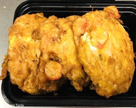 Seafood Egg Foo Young from Sichuan Taste in Cockeysville, MD
