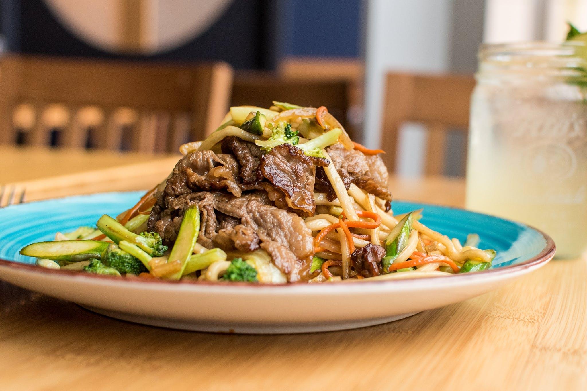 Sauteed Steak Udon from Tavernakaya in Madison, WI