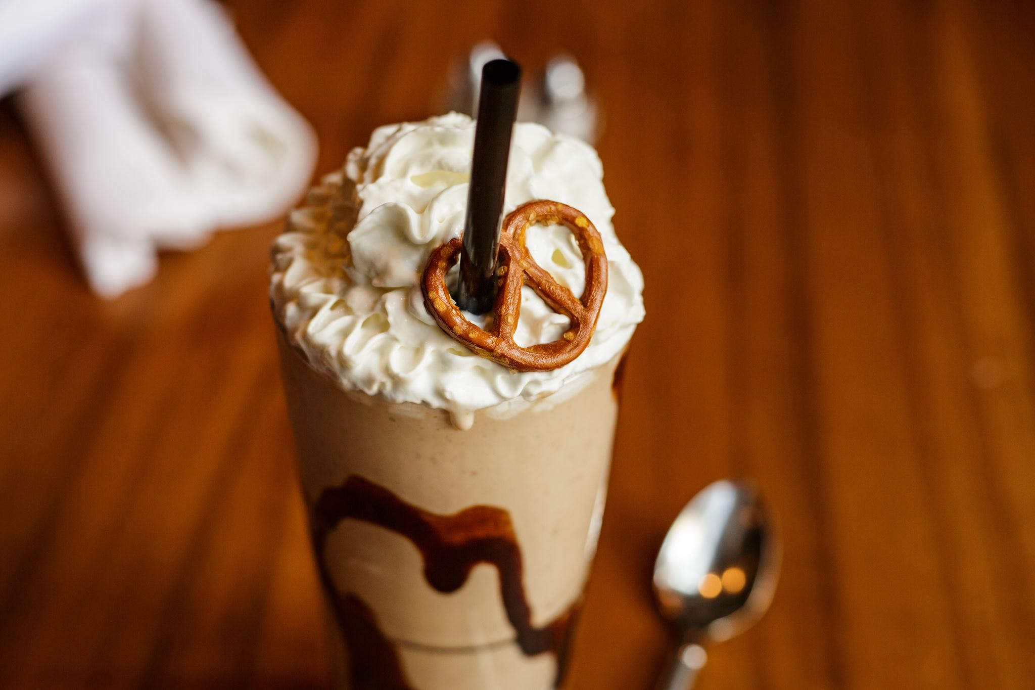 Chocolate Peanut Butter Pretzel Shake from DLUX in Madison, WI