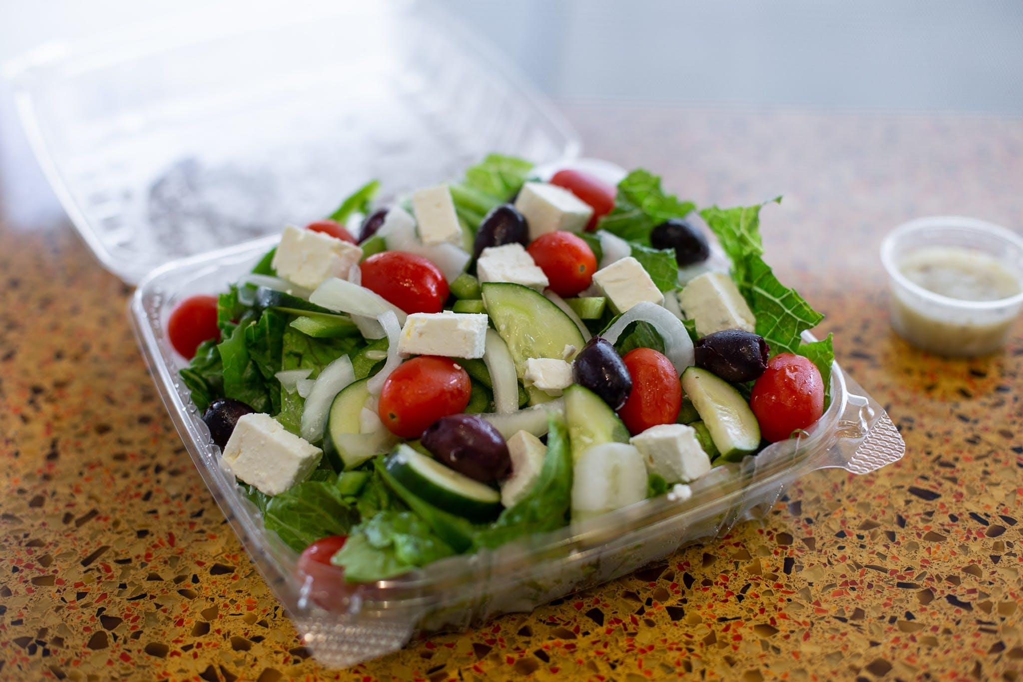 Greek Salad from Sarpino's Pizza in Lawrence, KS
