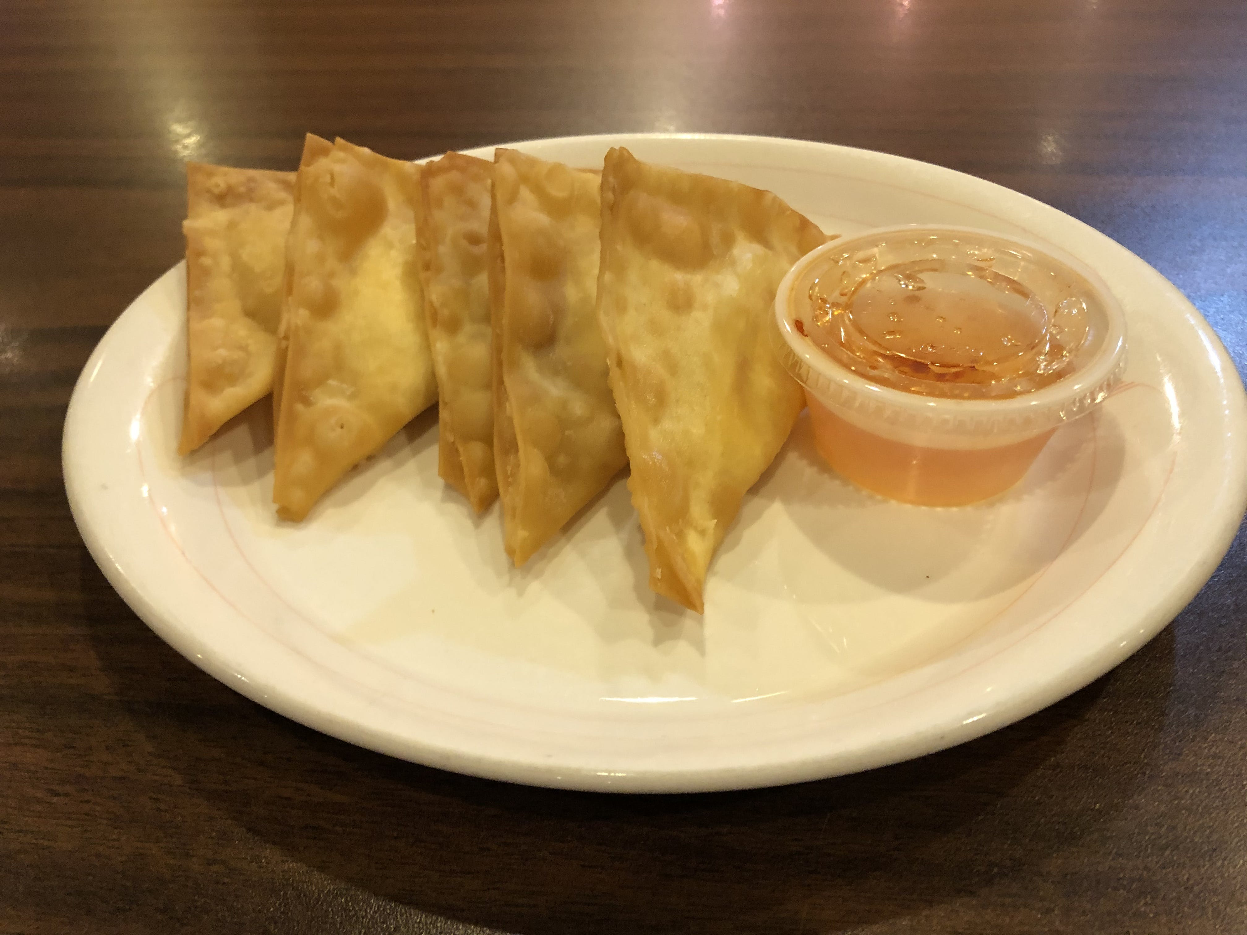 Crab Rangoon from Curry Campus in Madison, WI