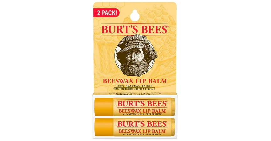 Burt's Bees 100% Natural Moisturizing Lip Balm Beeswax (2 ct) from EatStreet Convenience - SW Wanamaker Rd in Topeka, KS