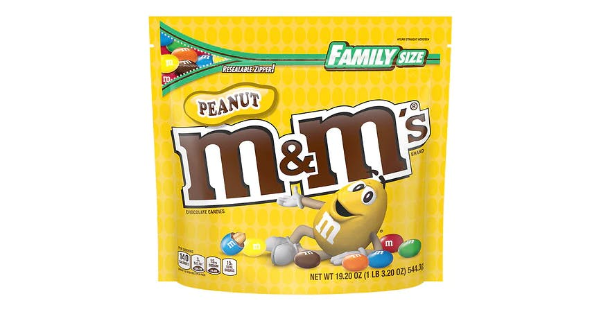M&M's Peanut Chocolate Candy (19 oz) from EatStreet Convenience - W Mason St in Green Bay, WI