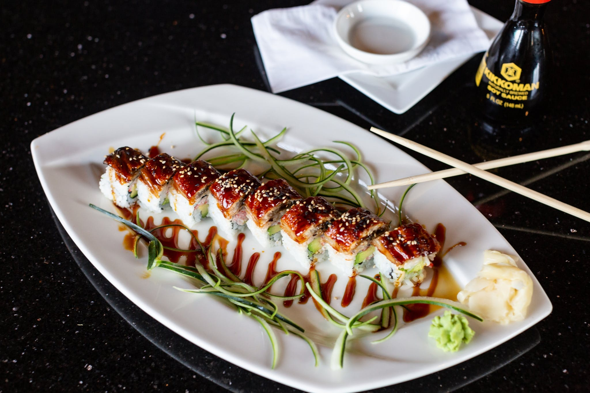 Black Dragon Roll from Oriental Bistro & Grill in Lawrence, KS
