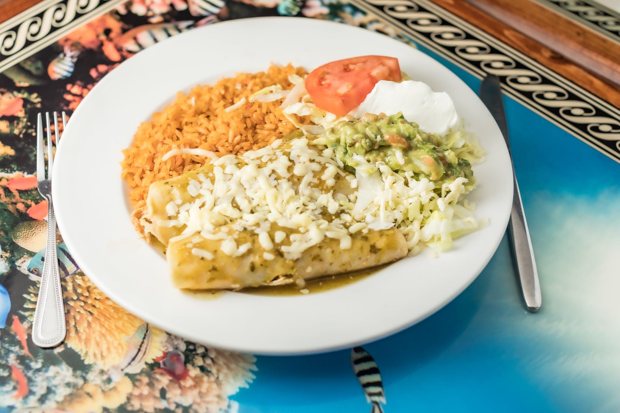 Enchiladas Verdes from Casa Vallarta Mexican Restaurant in Eau Claire, WI
