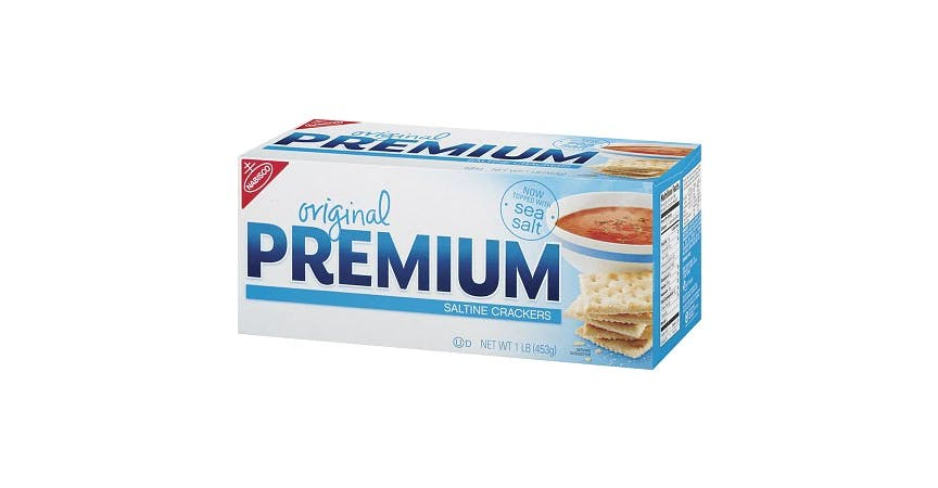 Nabisco Premium Saltine Crackers Original (16 oz) from EatStreet Convenience - W Mason St in Green Bay, WI