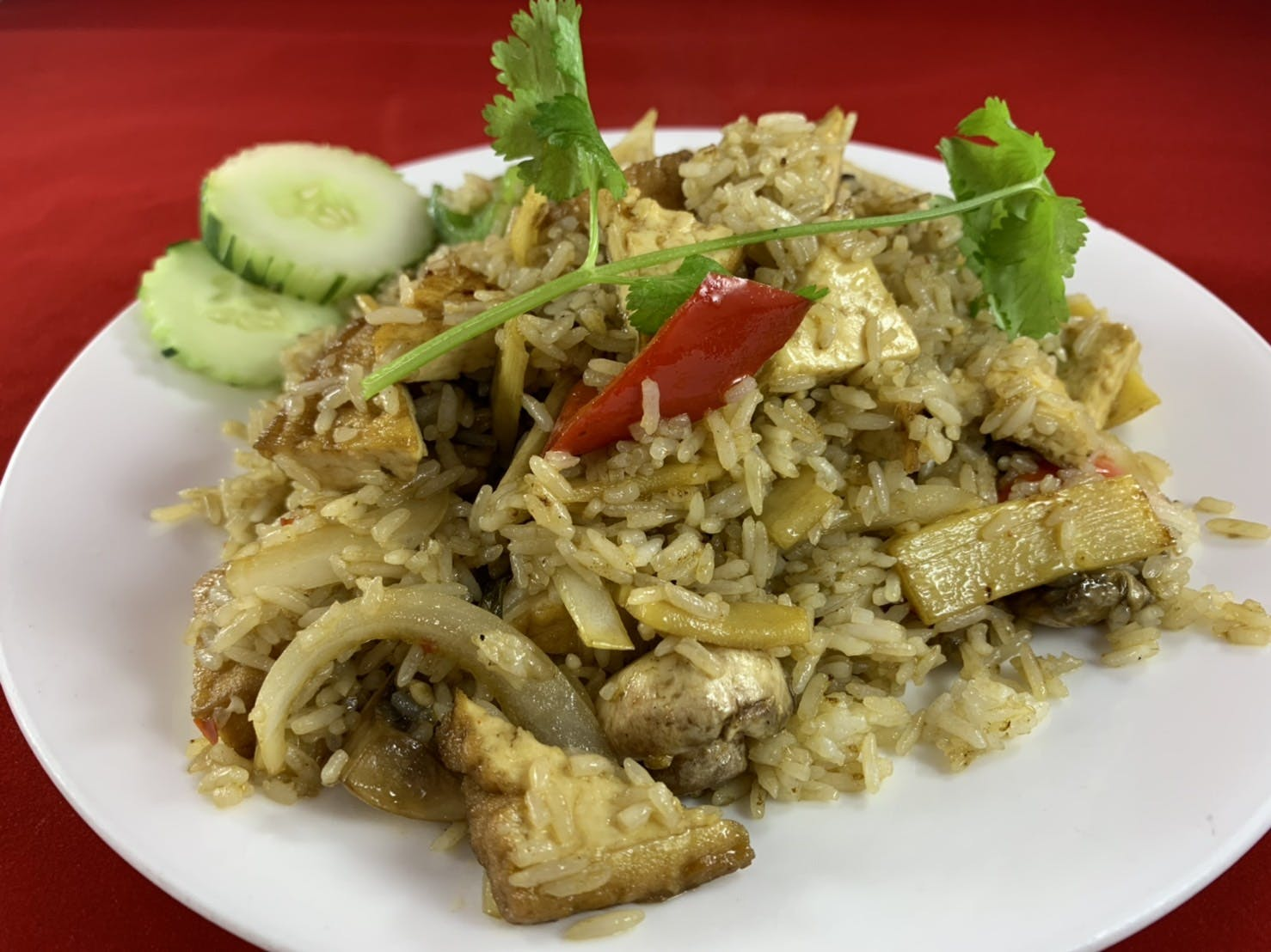 71. Kao Pad Kaprao (Dinner) from Sa-Bai Thong - University Ave in Madison, WI