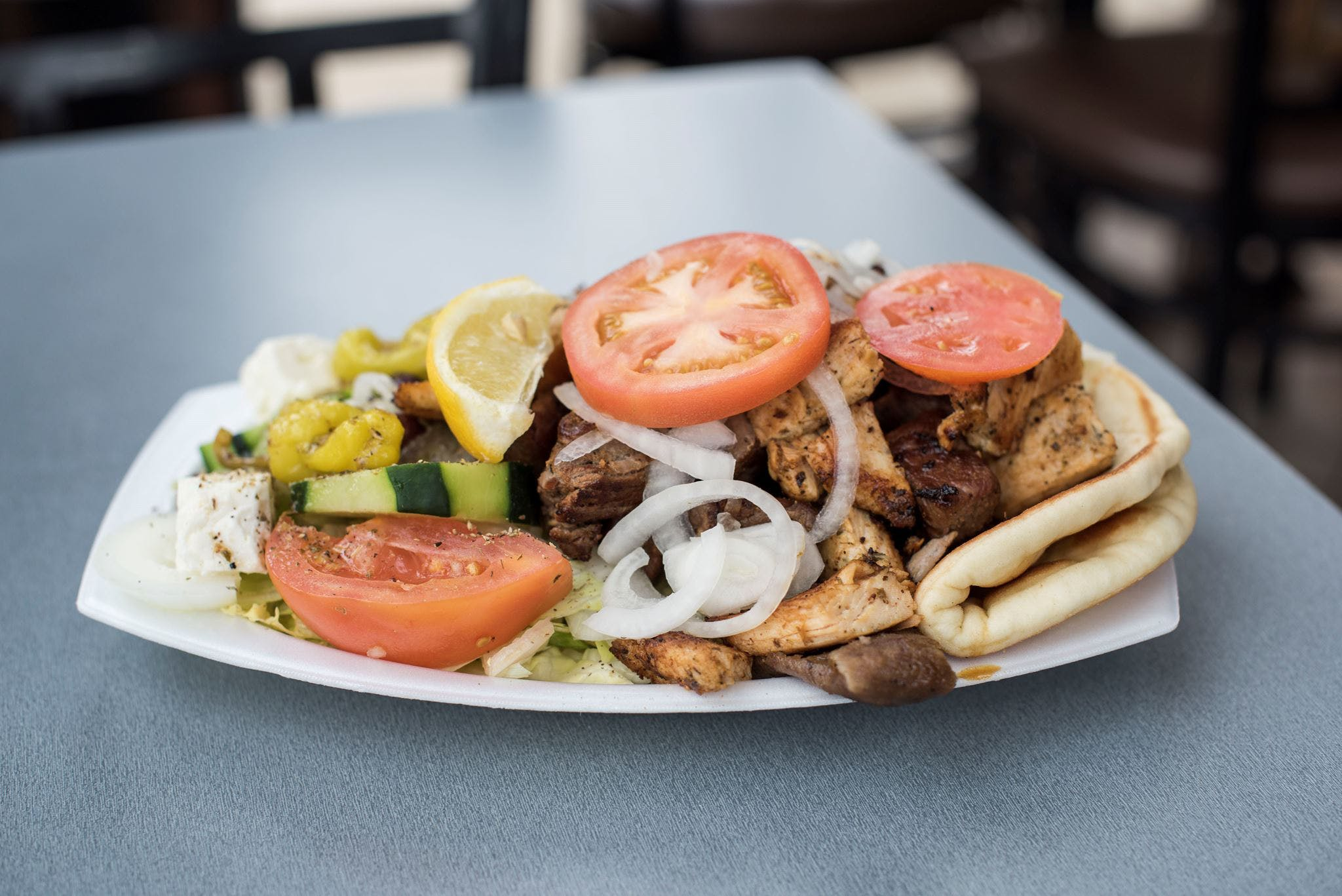 Palace Dinner Plate from Gyro Palace - Glendale in Glendale, WI