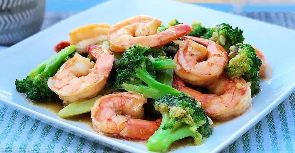 Shrimp with Broccoli from China Gate Restaurant in Kimberly, WI