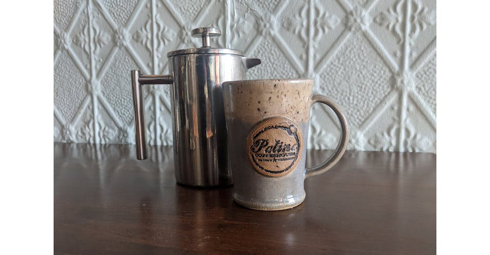 French Press from Patina Coffeehouse in Wausau, WI