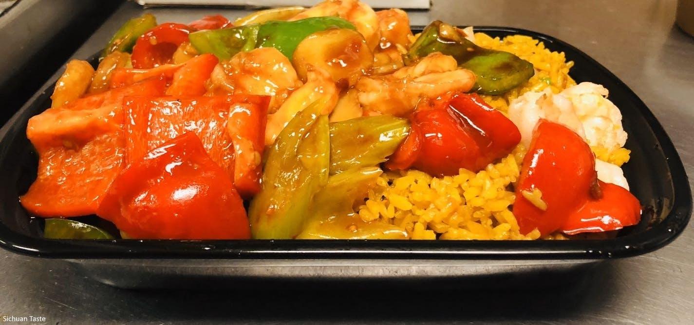 Shrimp with Garlic Sauce from Sichuan Taste in Cockeysville, MD