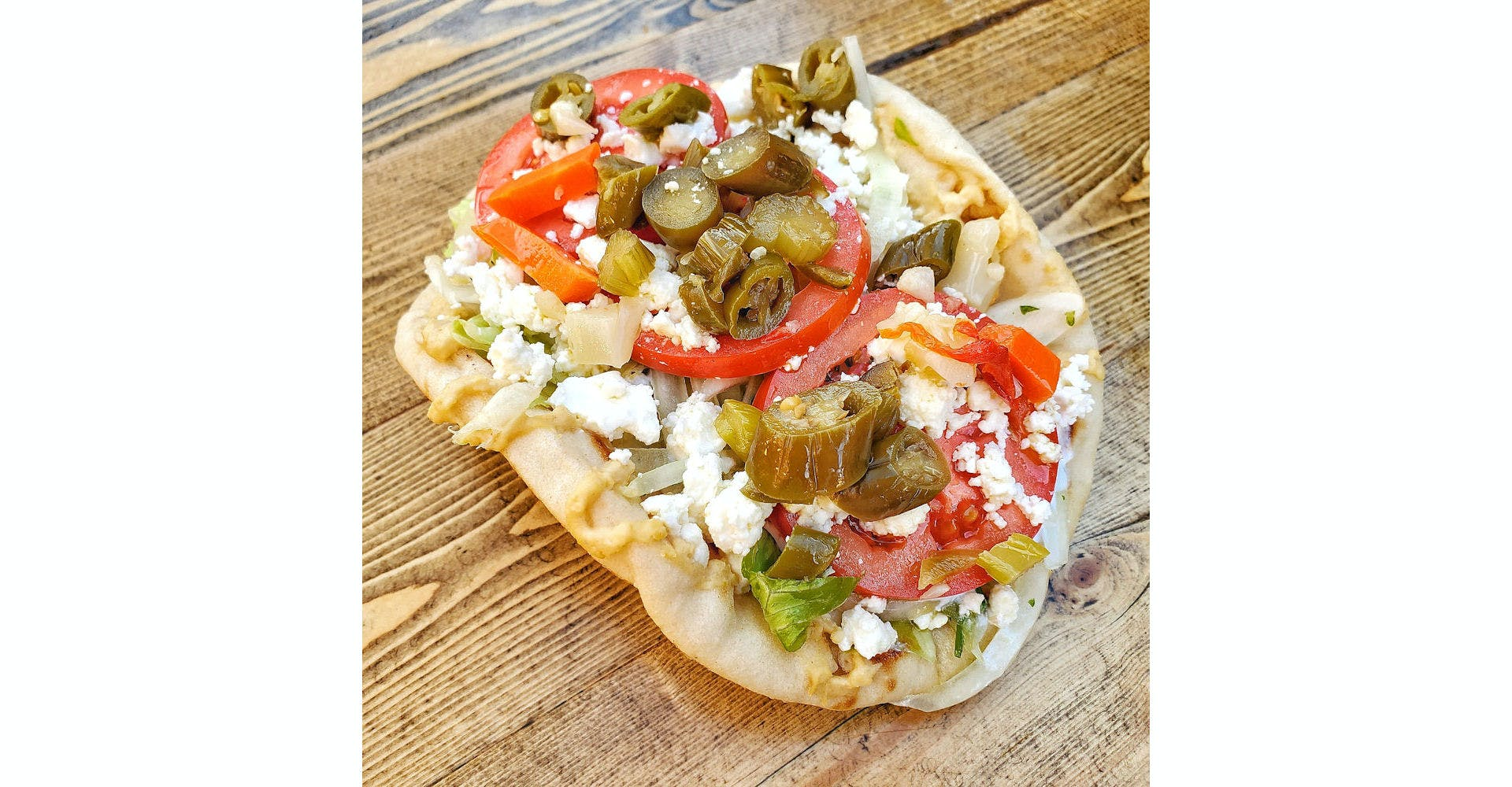 Spicy Veggie Sandwich from Parthenon Gyros in Madison, WI