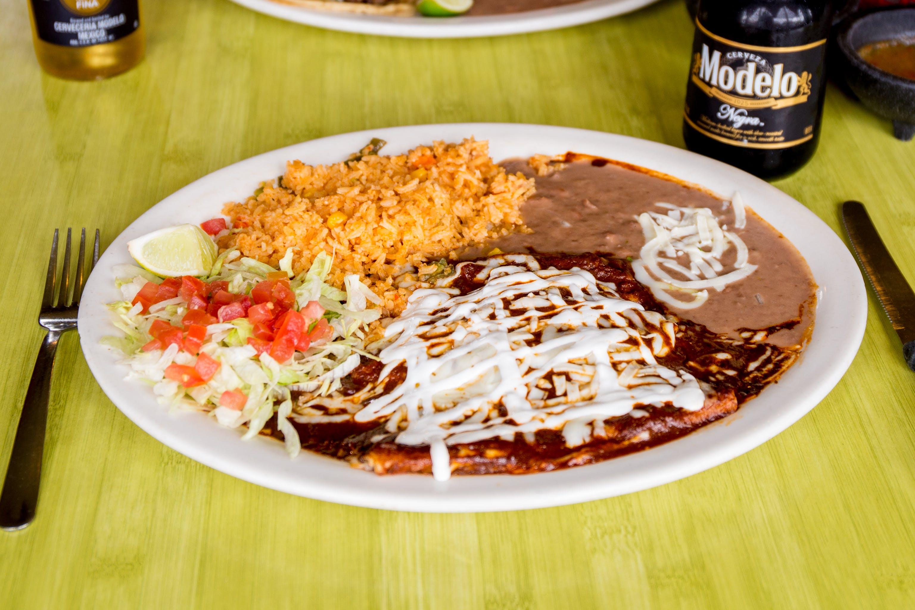 Enchiladas de Mole from Taqueria Guadalajara in Madison, WI