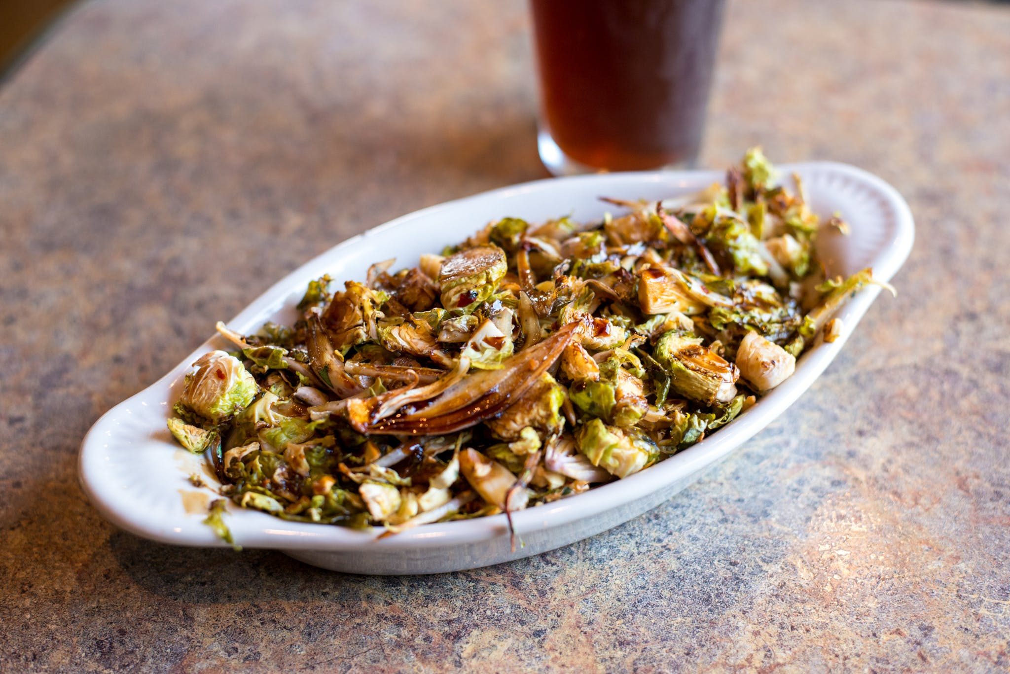 Brussel Sprout Stir-Fry from Brickhouse Craft Burgers & Brews in De Pere, WI
