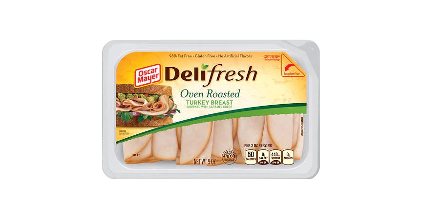 Oscar Mayer Deli Fresh Oven Roasted Turkey Breast (9 oz) from EatStreet Convenience - W Mason St in Green Bay, WI