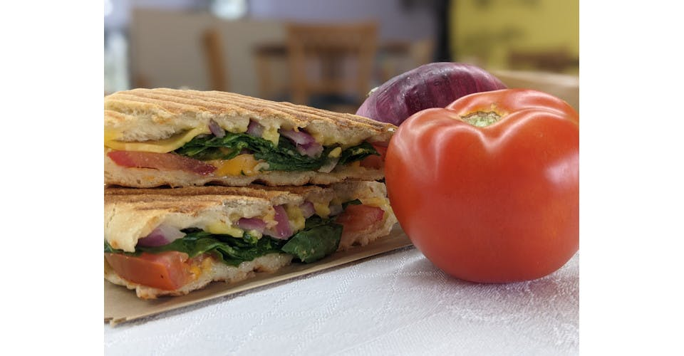 Veggie Grilled Cheese from Basics Co-op Cafe in Janesville, WI
