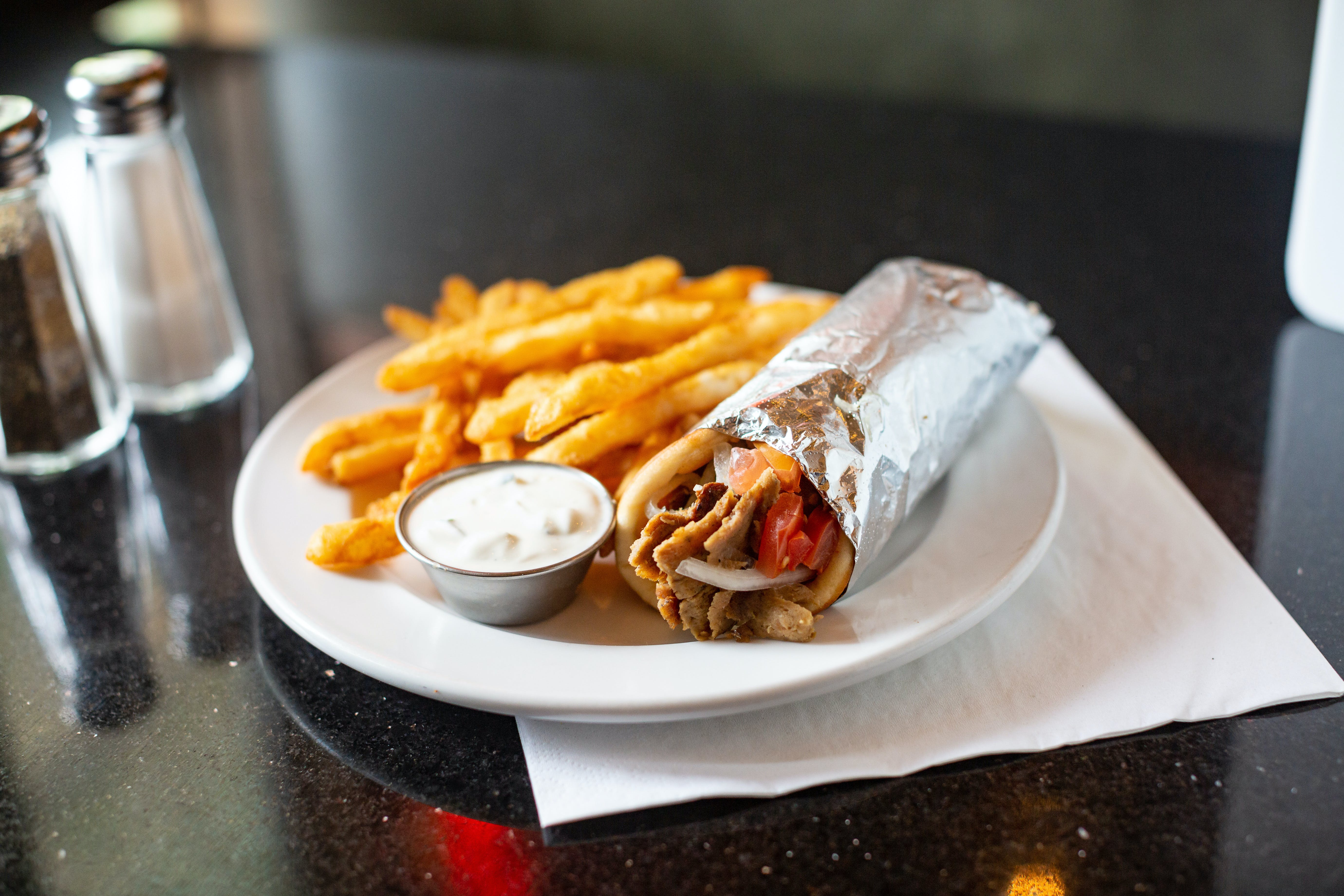 Gyros (Yee-Ros) from The Mad Greek in Lawrence, KS