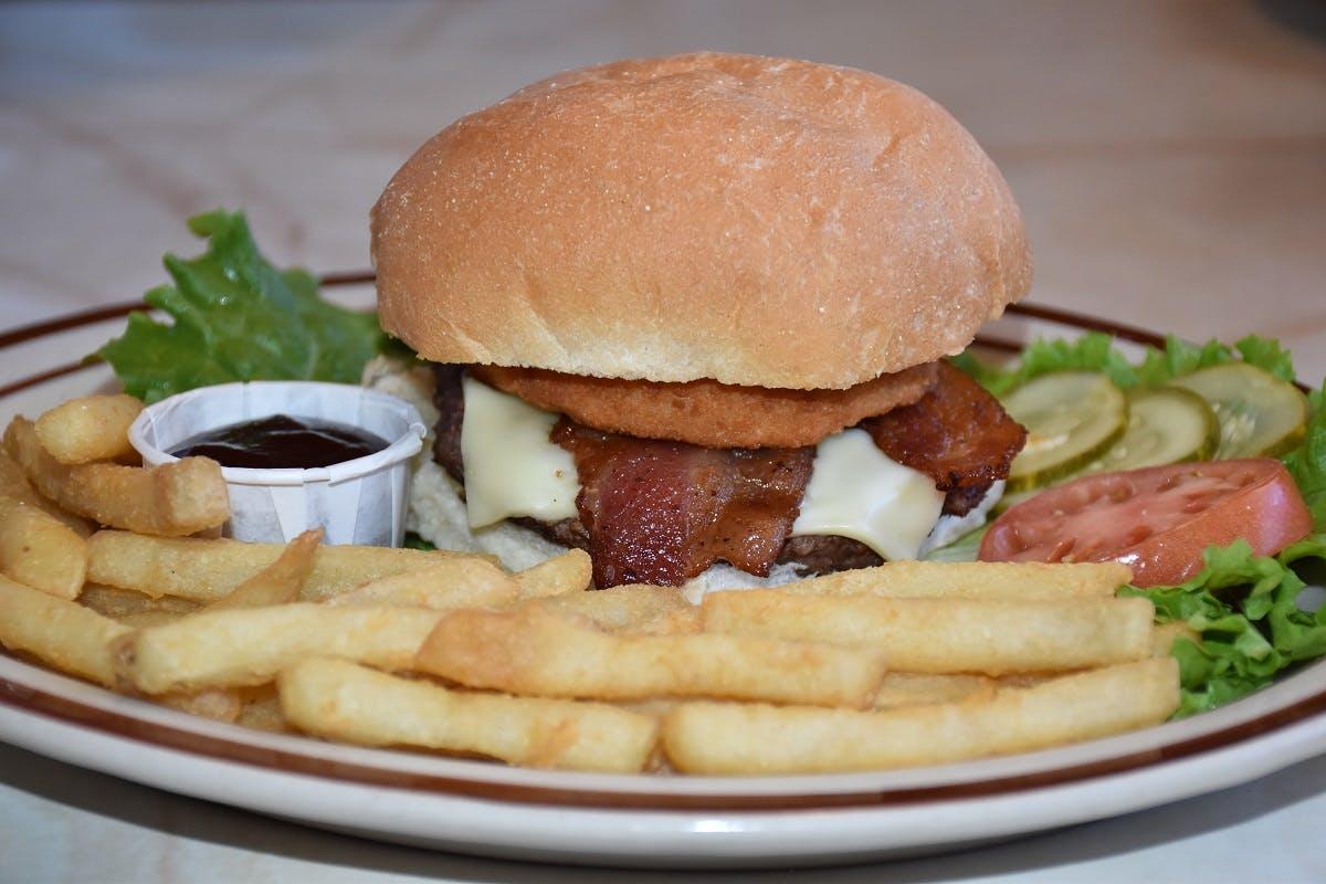 Cowboy Burger from Golden Basket Restaurant in Green Bay, WI