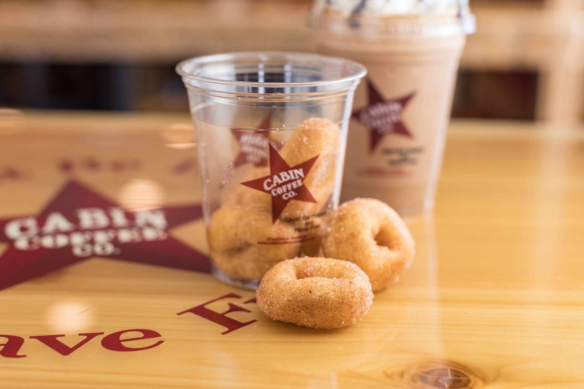 Mini Donuts from Cabin Coffee Co. in Altoona, WI