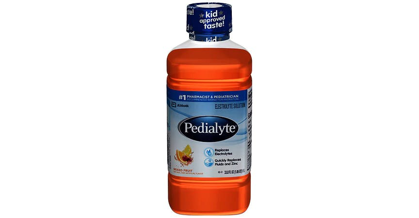 Pedialyte Electrolyte Solution Mixed Fruit (34 oz) from EatStreet Convenience - W Mason St in Green Bay, WI