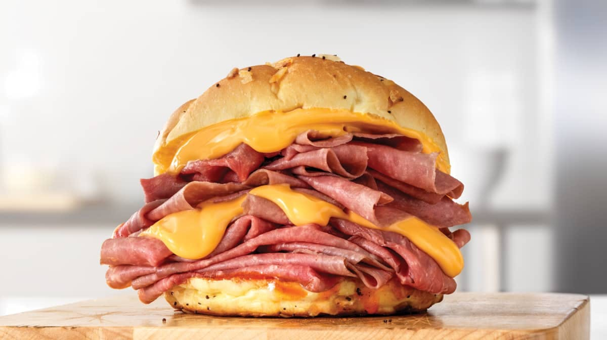 Double Beef 'n Cheddar (Sandwich Only) from Arby's - Washtenaw Ave in Ypsilanti, Mi