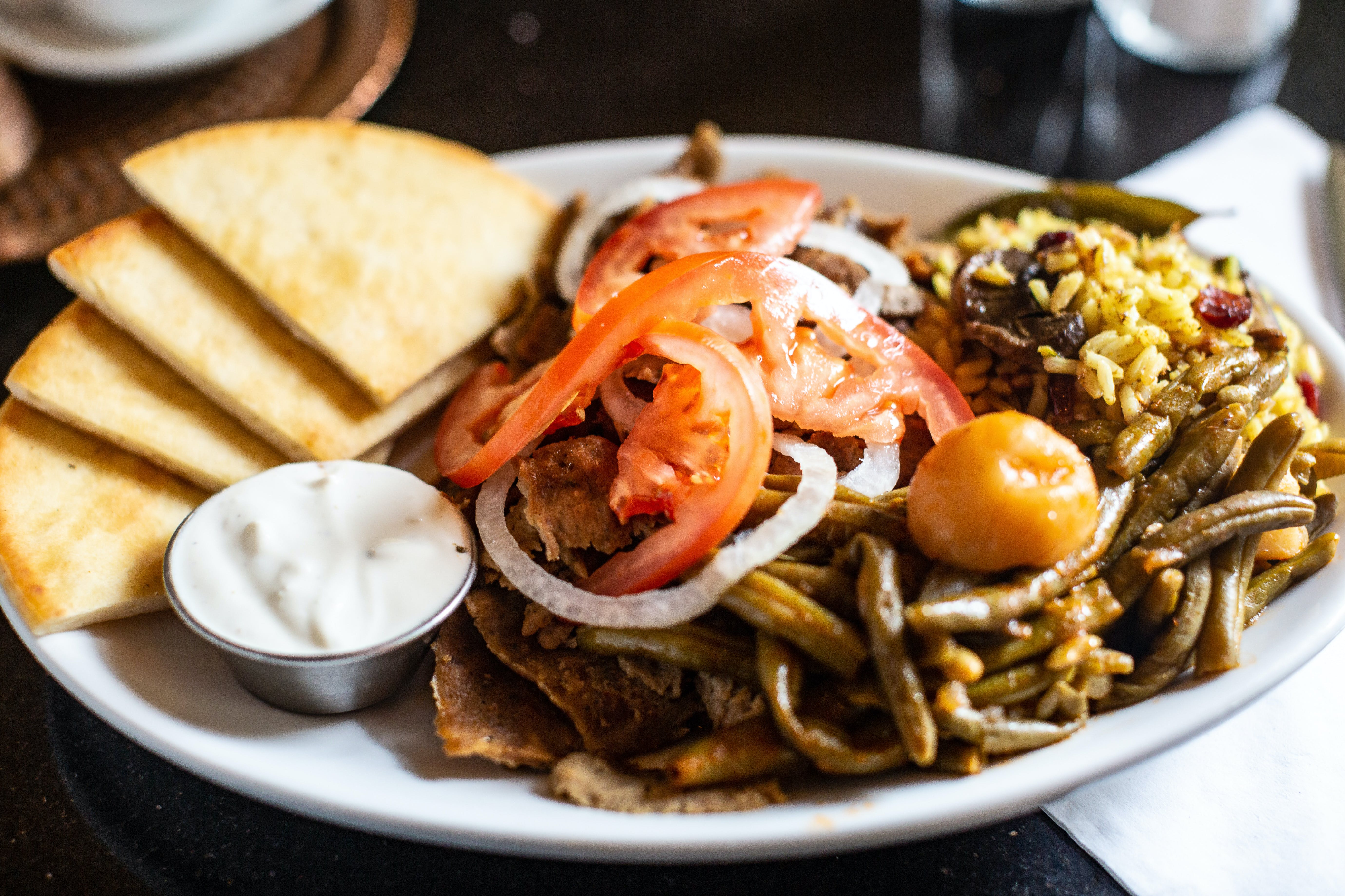 Gyros Dinner from The Mad Greek in Lawrence, KS