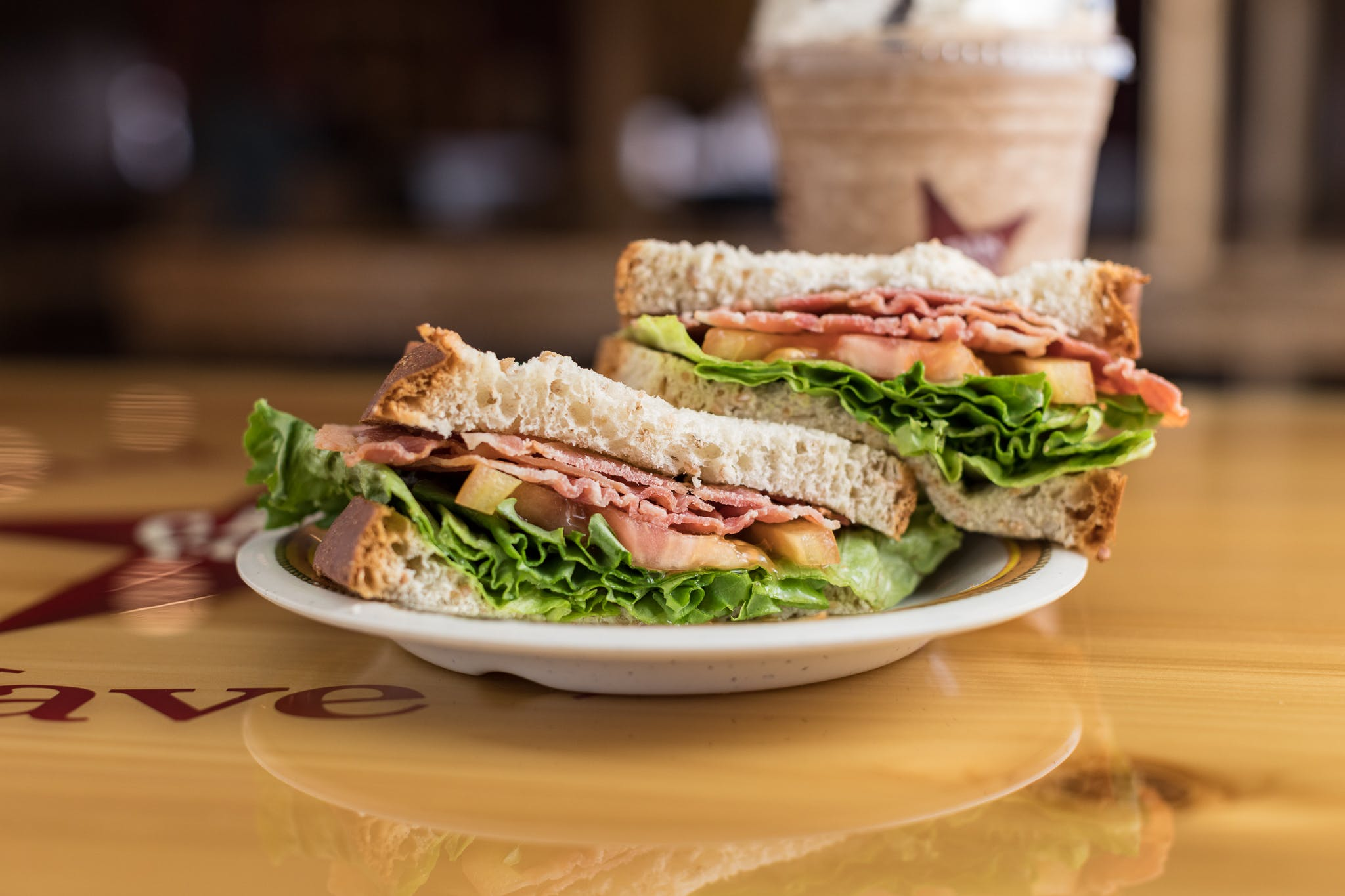 Large BLT Sandwich from Cabin Coffee Co. in Altoona, WI