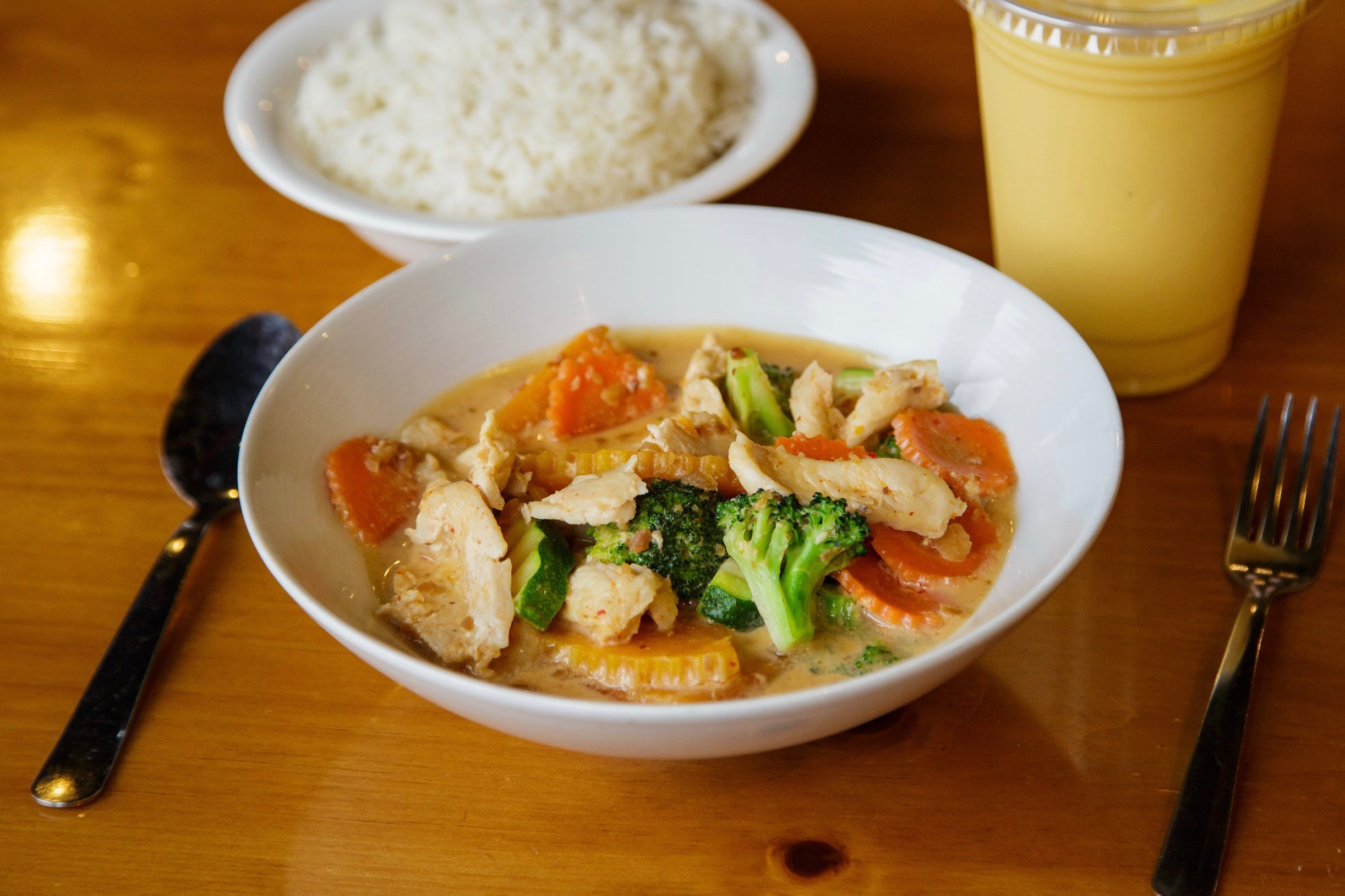 Panang Curry** from Curry Campus in Madison, WI