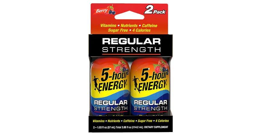 5-Hour ENERGY Shots Regular Strength Berry 1.93 oz Bottles (2 ct) from EatStreet Convenience - W Mason St in Green Bay, WI