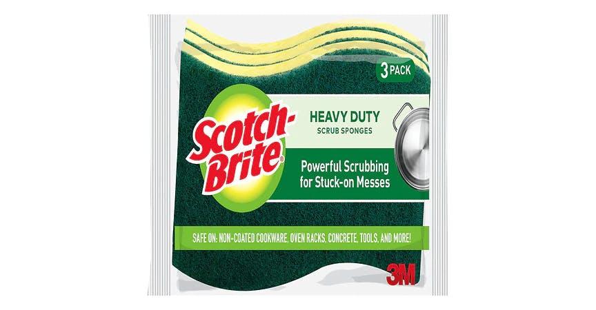 Scotch-Brite Heavy Duty Scrub Sponge, 4.5 in. x 2.7 in. x .6 in. (3 ct) from EatStreet Convenience - SW Wanamaker Rd in Topeka, KS