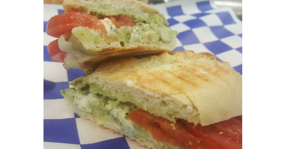 Caprese Panini from Basics Co-op Cafe in Janesville, WI
