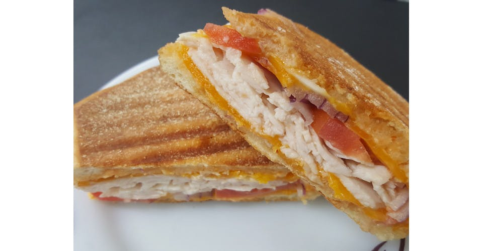 Chipotle Chicken Panini from Basics Co-op Cafe in Janesville, WI