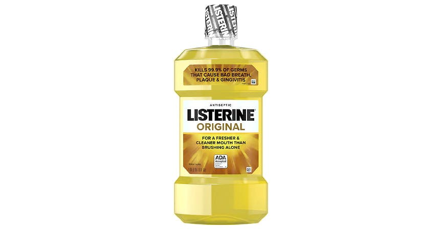 Listerine Antiseptic Oral Care Mouthwash Original (1 l) from EatStreet Convenience - SW Wanamaker Rd in Topeka, KS