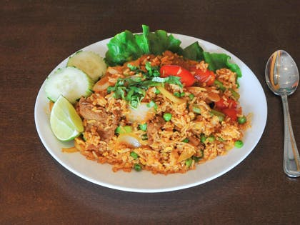 70. Kao Pad (Dinner) from Sa-Bai Thong - University Ave in Madison, WI