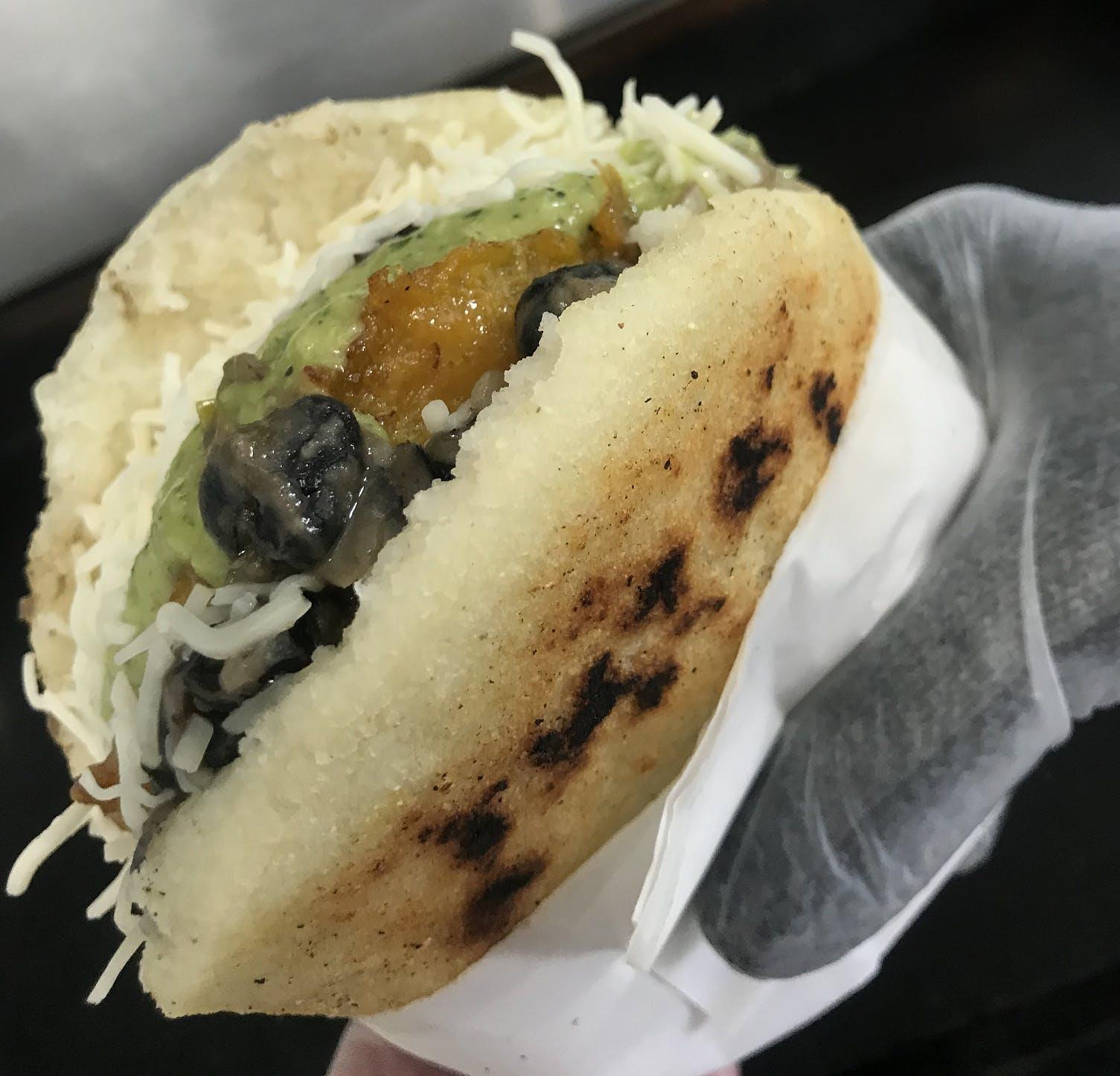 Veggie Arepa from Anytime Arepa in Milwaukee, WI