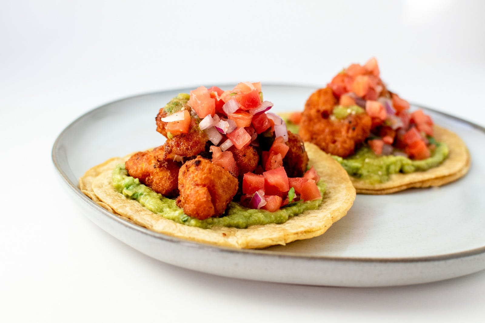 Beer Battered Cauliflower Tacos from Taco Royale - Eastside Madison in Madison, WI