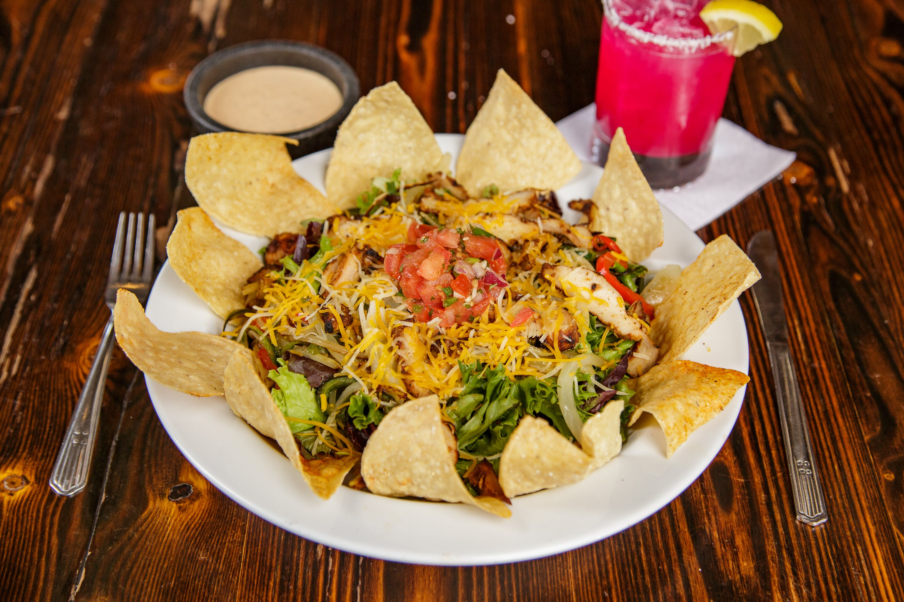 Fajita Taco Salad from Pasqual's Cantina - Hilldale in Madison, WI
