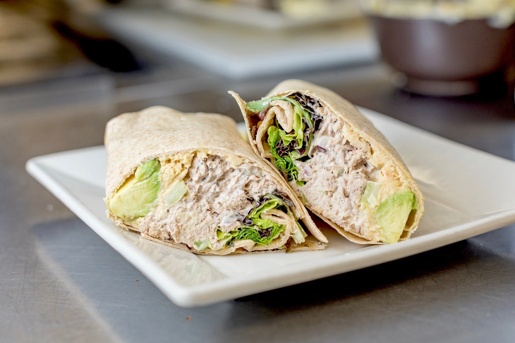 Tuna & Hummus Wrap from The French Press in Eau Claire, WI