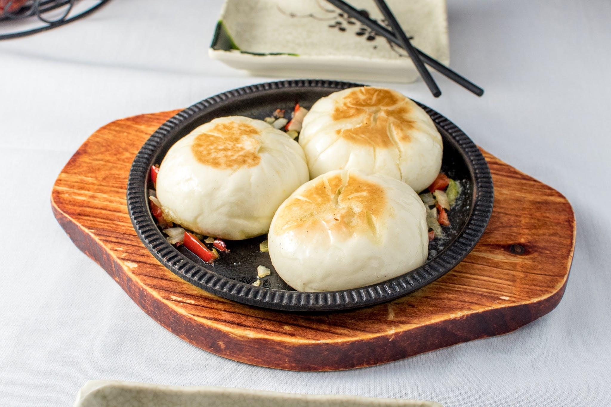 29. Pan-Fried Vegetable, Pork & Shrimp Bun from Nani Restaurant in Madison, WI