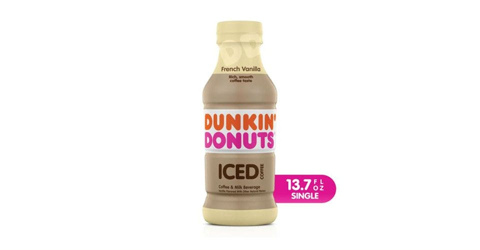 Dunkin Donuts French Vanilla Iced Coffee (13.7 oz) from CVS - Main St in Green Bay, WI