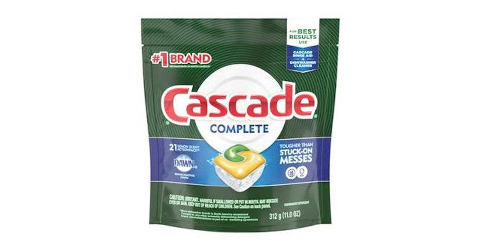 Cascade Complete Action Pacs Dishwasher Detergent Lemon Scent (21 ct) from CVS - Main St in Green Bay, WI