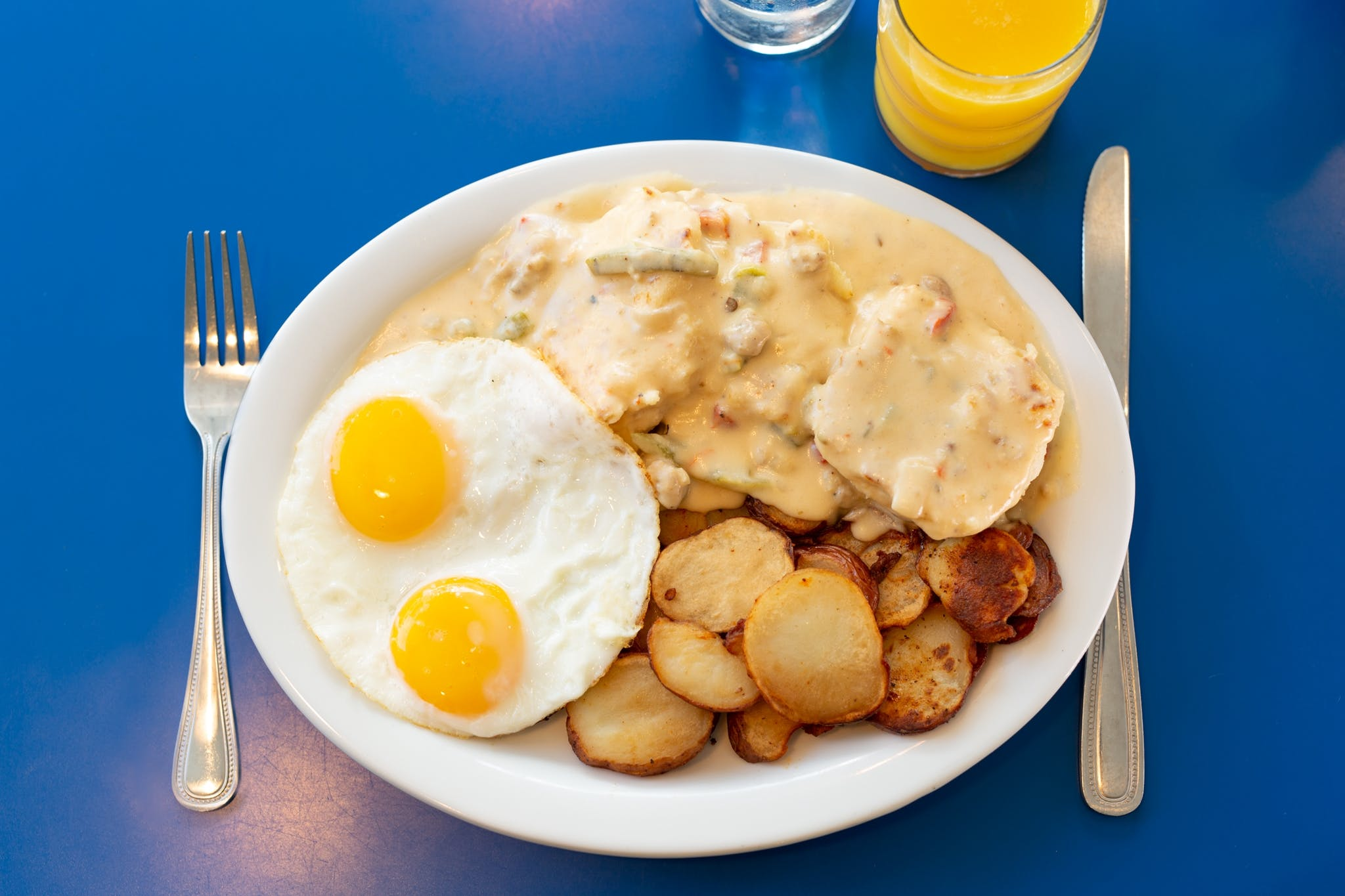 Biscuits and Gravy from Monty's Blue Plate Diner in Madison, WI